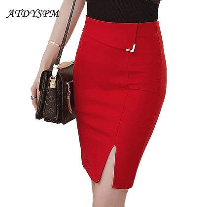 Plus Size / High Waist Stretch Pencil Skirt / Googoostore