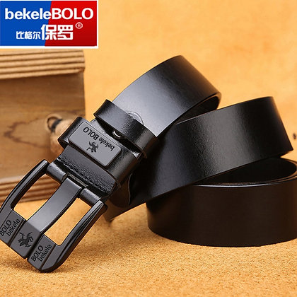 Genuine Leather Buckle Jeans Belts at Googoostore