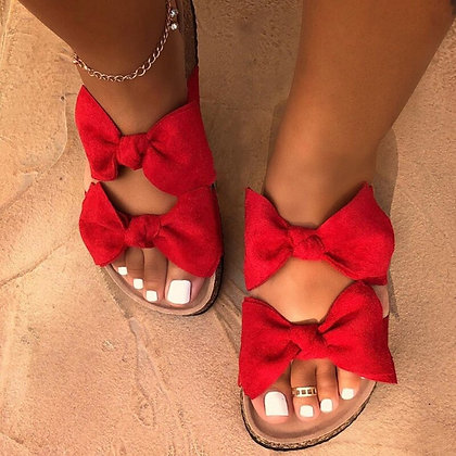 Bow Flat Beach Shoes / Slippers / 35-43