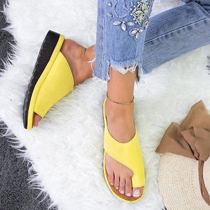 PU Leather Comfy Platform Flat Sole Sandals