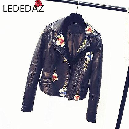 Vintage Leather Jacket Plus Size /PU Faux Leather