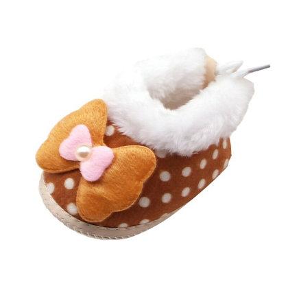 Winter Warm Velvet Cotton Shoes / Dot Print Boots  / Non-Slip