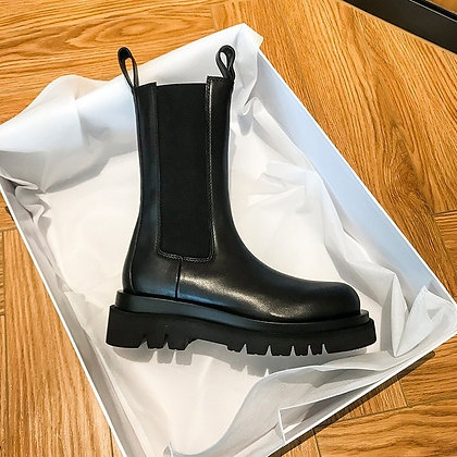 Chelsea Ankle Boots / Slip on Chunky Boots
