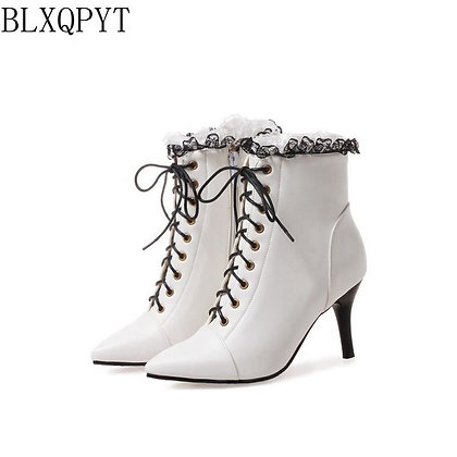 BLXQPYT / Size 32-48 High Heels Ankle Boots