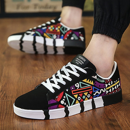 New Men Sneakers Casual Shoes Men Lovers Printing Fashion Shoes