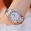 Thumbnail: Crystal Watch Women Dress Watch Fashion Rose Gold