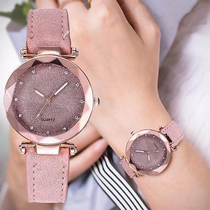 Romantic Starry Sky Leather Rhinestone Designer watch