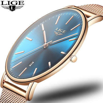 2021 Women Watch LIGE Top Brand Luxury Women's Clock Fashion Casual All Steel