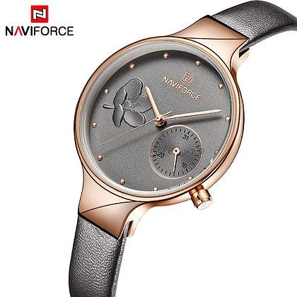 NAVIFORCE - Quartz Leather Strap Waterproof Watch