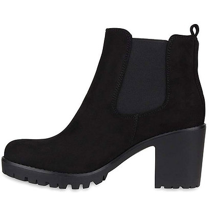 Square 8cm Heels / Non-Slip Round Toe Boots