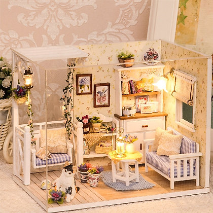 Doll House Furniture Diy Miniature 3D Wooden Miniaturas Dollhouse