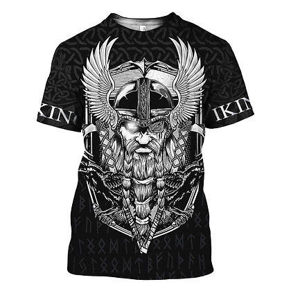 Viking Symbol - Odin Tattoo 3D Printed T-shirt /Harajuku Fashion Short Sleeve