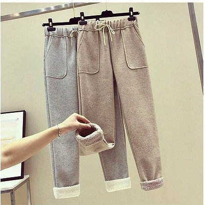 Wide-Legged Pants /Trousers Woollen Fleece Pants