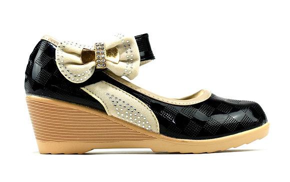 Super Lightweight Girl's Wedge Shoes Black