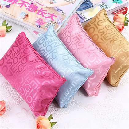 Makeup Bags Letter Printed Portable Cute Multifunction Beauty case