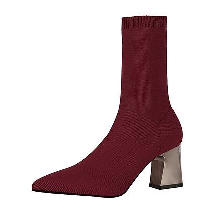 Elastic Sock Stretch Boots / Platform Heels / Botas Mujer