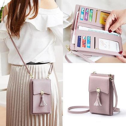 PU Leather Clutch Wallet Mini Handbag Ladies Long Cell Phone Holder