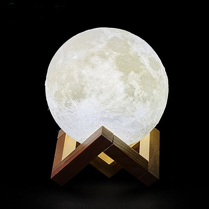 3D Print Rechargeable Moon Lamp LED Night Light Creative Touch Switch Moon Light