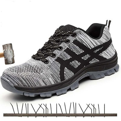 Steel Toe  Work Shoes - Breathable Comfortable Sports Shoes