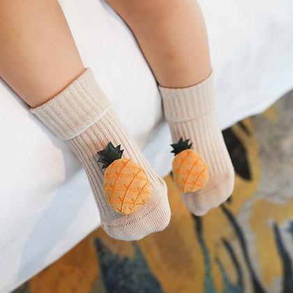 0-18 Months - Fruit Rubber Anti Slip /Cotton /  Kids - Infant Socks