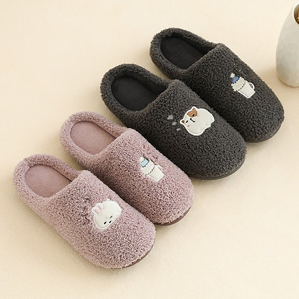 Soft Plush Lovers -Cotton Slippers