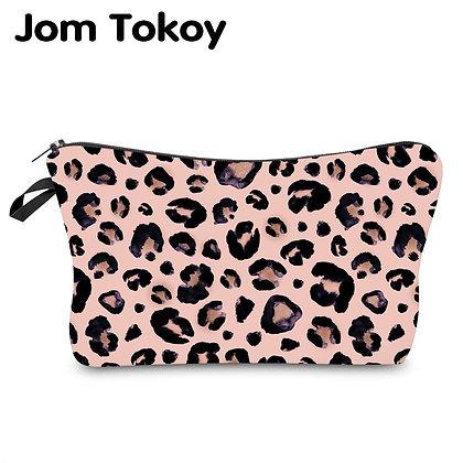 Jom Tokoy Water Resistant Makeup Bag Printing Leopard Cosmetic Bag