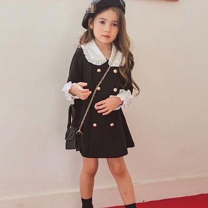 Mihkalev Fashion 2021 Girl Spring Dresses Kids Dresses for Girls Cotton Button