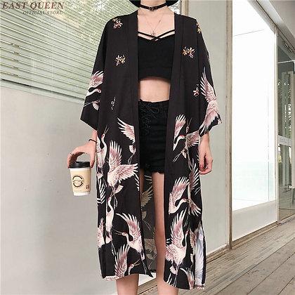 Kimono Cardigan Womens Tops and Blouses Japanese Streetwear