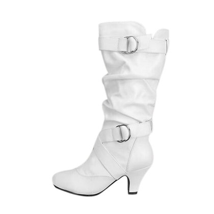 Knee High - Buckle Strap Boots