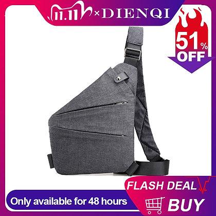 DIENQI - Thin Personal Pocket Vintage Crossbody Bags