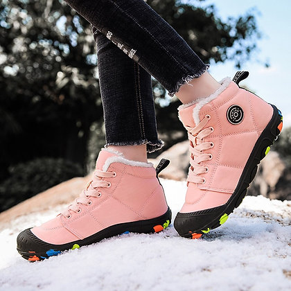 Outdoor Hiking Non Slip Botas Mujer Warm Plush Winter Ankle Boots