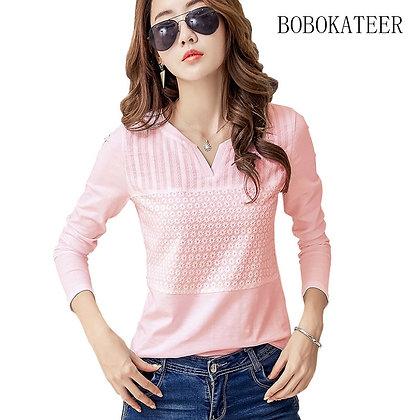 BOBOKATEER Plus Size / Blusas Mujer De Moda / Chemise  Embroidery Blouse