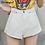 Thumbnail: Streamgirl - Elastic Waist Vintage High Waist Shorts