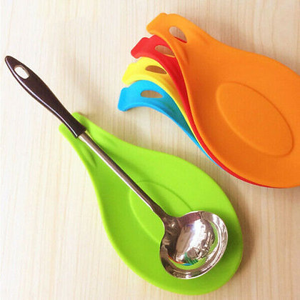 1Pcs Silicone Insulation Spoon Rest Heat Resistant