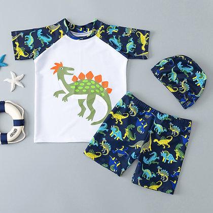 Dinosaur Pattern Two-Piece Swimwear