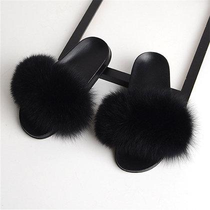 Fox Fur Indoor Slippers / Sandals