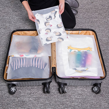 Transparent Waterproof Travel Cosmetic Bag Women Zipper Makeup Case