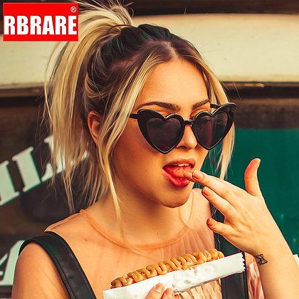 RBRARE Love Heart Sunglasses Women Big Frame Personality Sunglasses