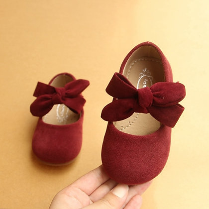 Big Bow Princess Baby Single Casual Shoes 1-3 Year Soft Leather