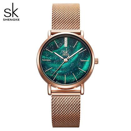 Shengke - Reloj Mujer Ladies Wristwatch / Ultra-Thin Stainless Steel Strap