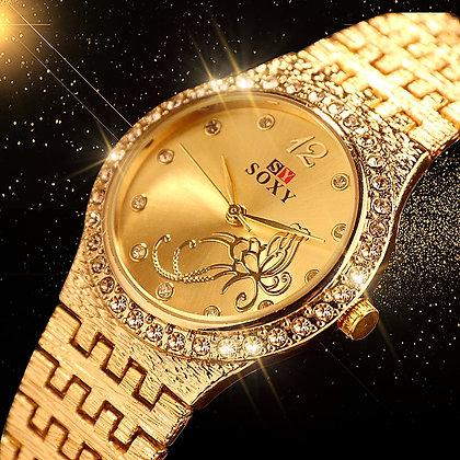 New Fashion  Rhinestone  Exquisite Flower Butterfly watch