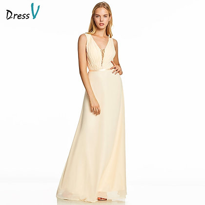 Dressv - a Line Sleeveless Zipper Up Wedding Party Formal Dress