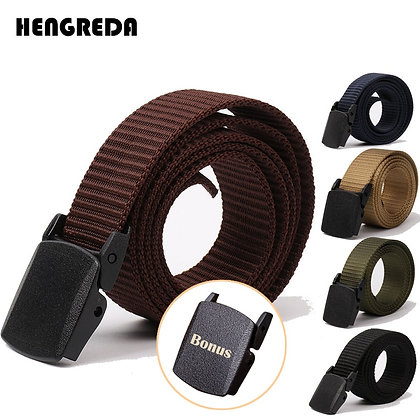 Nylon Army Belts / Adjustable Outdoor Travel Waist Belt / 120cm 130cm