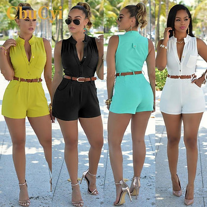 New Style Rompers / Casual Jumpsuits with belt at Googoostore