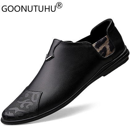 2020 New Fashion Men's Shoes Casual Genuine Leather Loafers