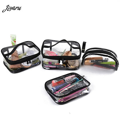 Hot Sale Clear PVC Cosmetic Bag Waterproof Women Make Up Case Travel Clear