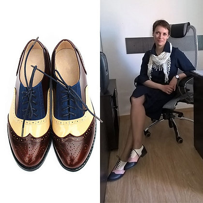 Genuine Leather Vintage Casual Oxfords Shoes at GOOGOOSTORE