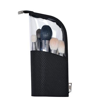 Waterproof Organizer Half Transparent Travel Pouch / Makeup Bag Brush Holder