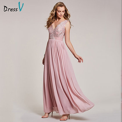 Dressv - Peal Pink a Line Formal Dress