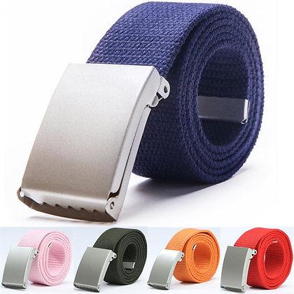 Unisex -Breathable -Adjustable Waist Canvas Belt  140cm